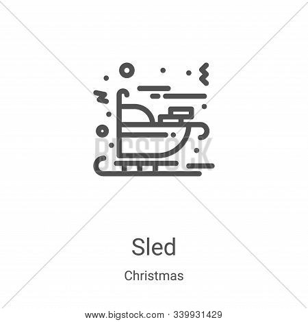 sled icon isolated on white background from christmas collection. sled icon trendy and modern sled s