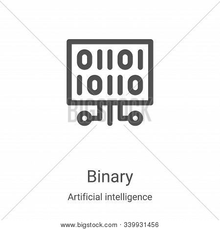 binary icon isolated on white background from artificial intelligence collection. binary icon trendy