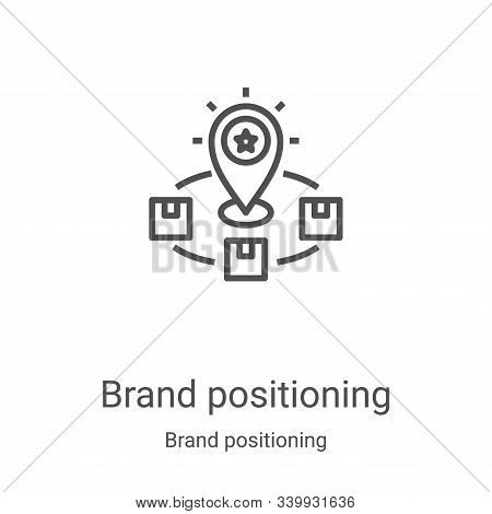 brand positioning icon isolated on white background from brand positioning collection. brand positio