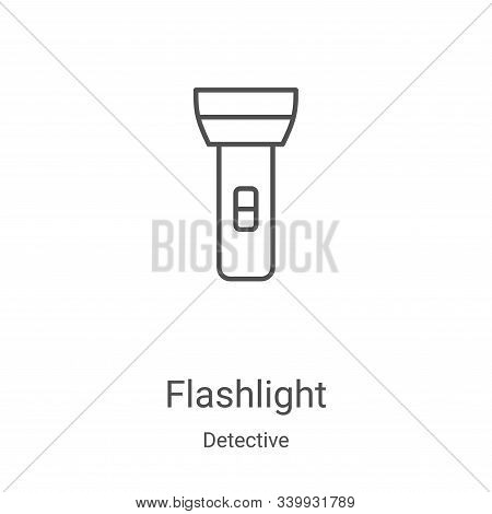 flashlight icon isolated on white background from detective collection. flashlight icon trendy and m
