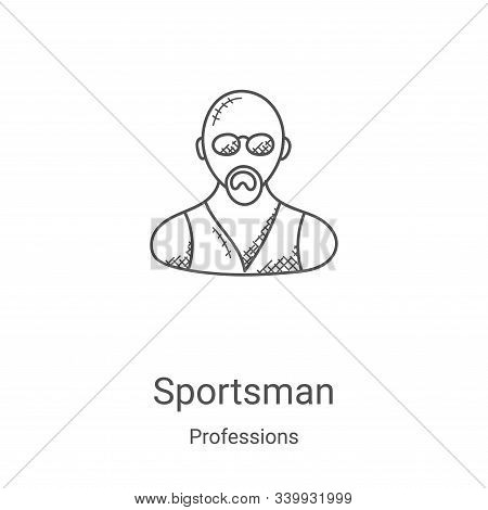 sportsman icon isolated on white background from professions collection. sportsman icon trendy and m