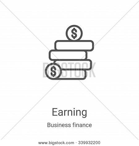 earning icon isolated on white background from business finance collection. earning icon trendy and