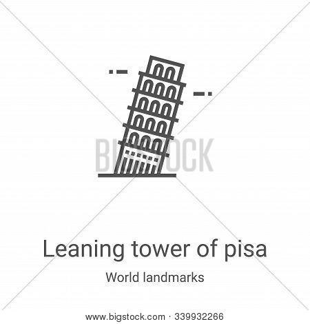 leaning tower of pisa icon isolated on white background from world landmarks collection. leaning tow