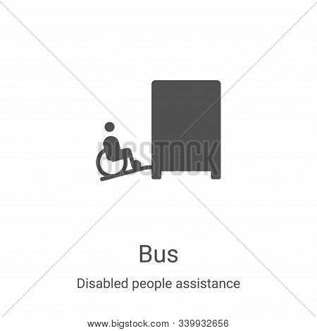 bus icon isolated on white background from disabled people assistance collection. bus icon trendy an