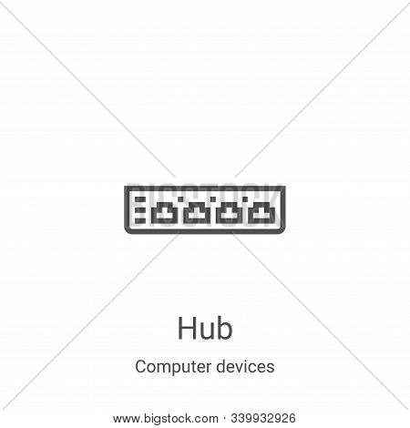 hub icon isolated on white background from computer devices collection. hub icon trendy and modern h