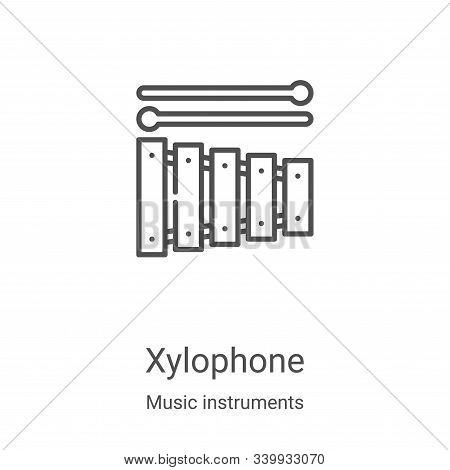 xylophone icon isolated on white background from music instruments collection. xylophone icon trendy