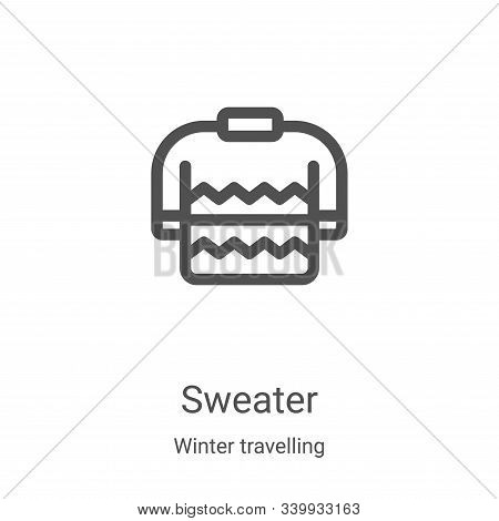 sweater icon isolated on white background from winter travelling collection. sweater icon trendy and