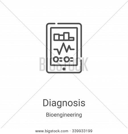 diagnosis icon isolated on white background from bioengineering collection. diagnosis icon trendy an