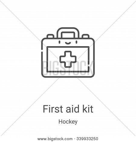 first aid kit icon isolated on white background from hockey collection. first aid kit icon trendy an