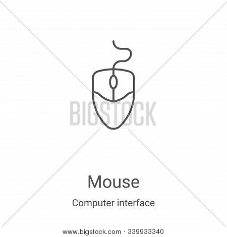 mouse icon isolated on white background from computer interface collection. mouse icon trendy and mo