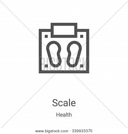 scale icon isolated on white background from health collection. scale icon trendy and modern scale s