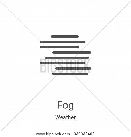 fog icon isolated on white background from weather collection. fog icon trendy and modern fog symbol