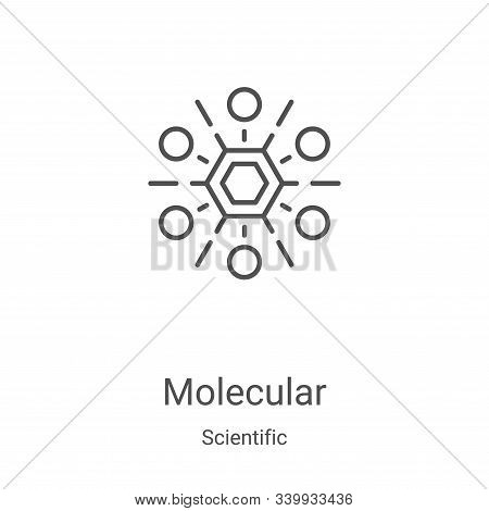 Molecular icon isolated on white background from scientific collection. Molecular icon trendy and mo