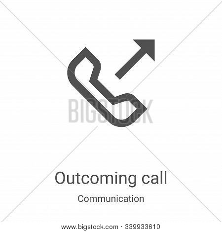 outcoming call icon isolated on white background from communication collection. outcoming call icon