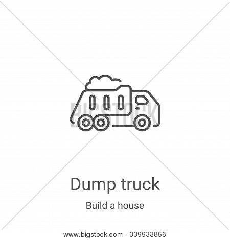 dump truck icon isolated on white background from build a house collection. dump truck icon trendy a