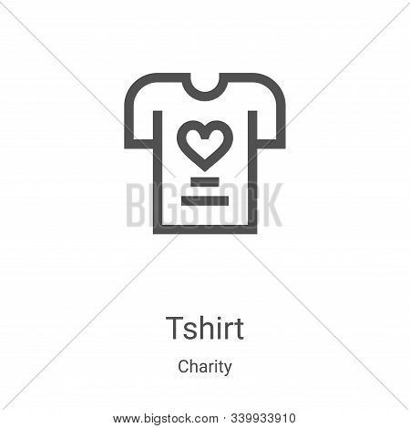 tshirt icon isolated on white background from charity collection. tshirt icon trendy and modern tshi