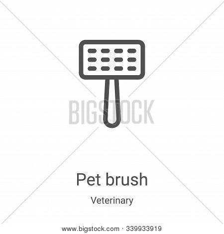 pet brush icon isolated on white background from veterinary collection. pet brush icon trendy and mo