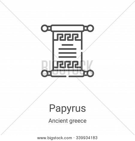papyrus icon isolated on white background from ancient greece collection. papyrus icon trendy and mo