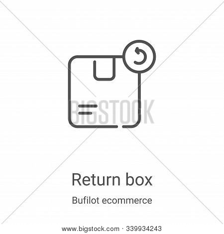 return box icon isolated on white background from bufilot ecommerce collection. return box icon tren