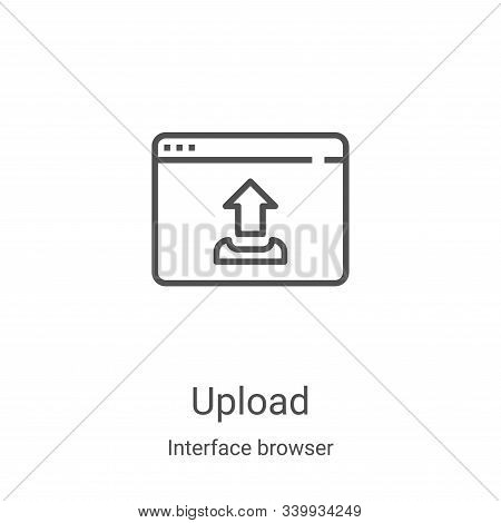upload icon isolated on white background from interface browser collection. upload icon trendy and m