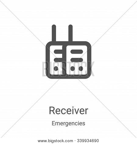 receiver icon isolated on white background from emergencies collection. receiver icon trendy and mod