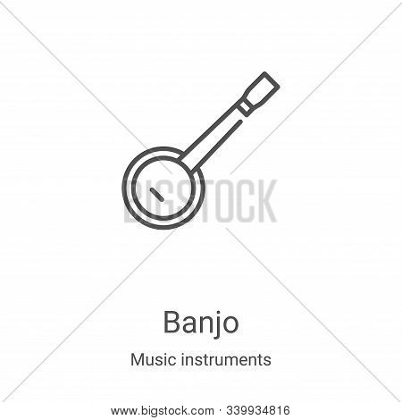 banjo icon isolated on white background from music instruments collection. banjo icon trendy and mod