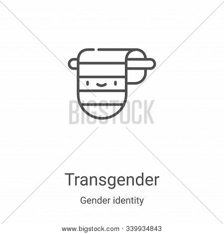 transgender icon isolated on white background from gender identity collection. transgender icon tren