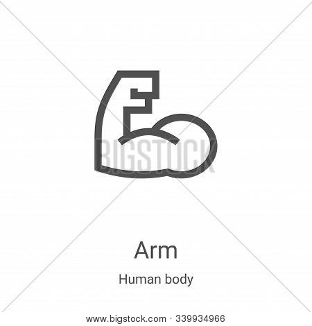 arm icon isolated on white background from human body collection. arm icon trendy and modern arm sym
