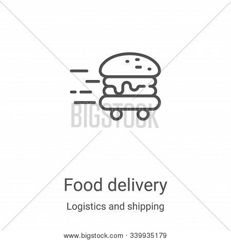 food delivery icon isolated on white background from logistics and shipping collection. food deliver