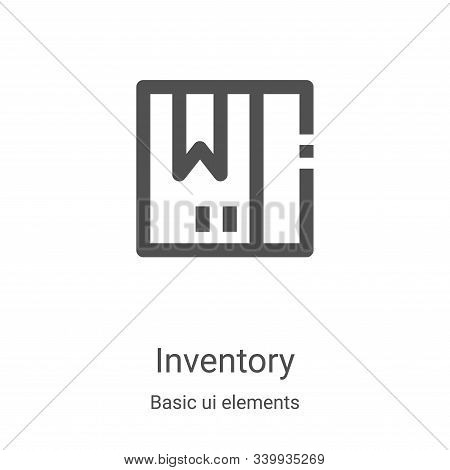 inventory icon isolated on white background from basic ui elements collection. inventory icon trendy