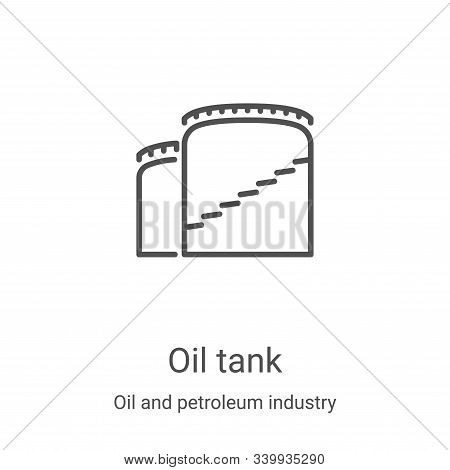 oil tank icon isolated on white background from oil and petroleum industry collection. oil tank icon