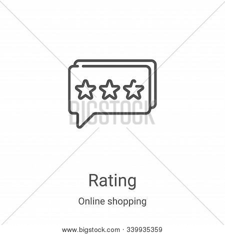 rating icon isolated on white background from online shopping collection. rating icon trendy and mod