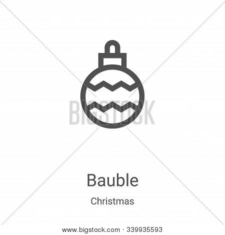 bauble icon isolated on white background from christmas collection. bauble icon trendy and modern ba