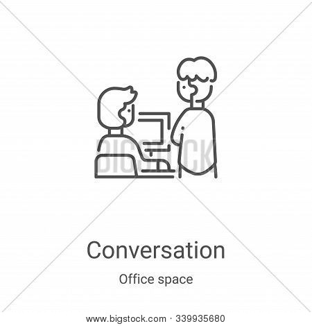 conversation icon isolated on white background from office space collection. conversation icon trend