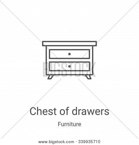 chest of drawers icon isolated on white background from furniture collection. chest of drawers icon