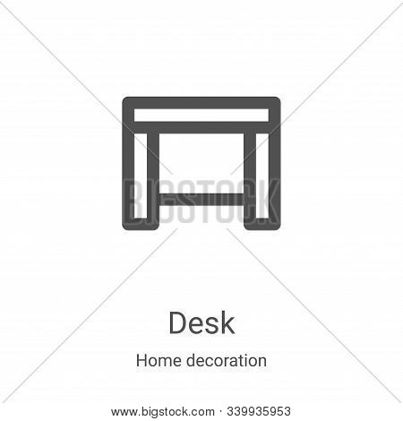 desk icon isolated on white background from home decoration collection. desk icon trendy and modern