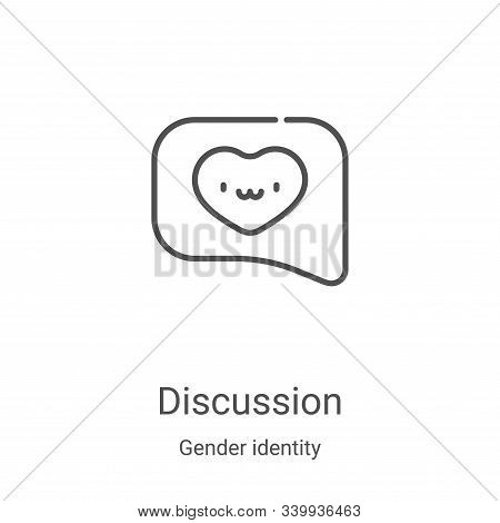 discussion icon isolated on white background from gender identity collection. discussion icon trendy