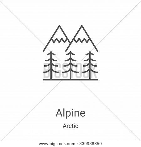 alpine icon isolated on white background from arctic collection. alpine icon trendy and modern alpin