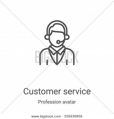 customer service icon isolated on white background from profession avatar collection. customer servi
