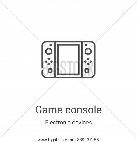 game console icon isolated on white background from electronic devices collection. game console icon
