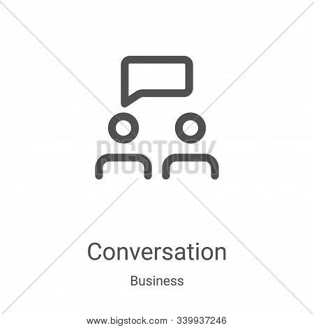 conversation icon isolated on white background from business collection. conversation icon trendy an