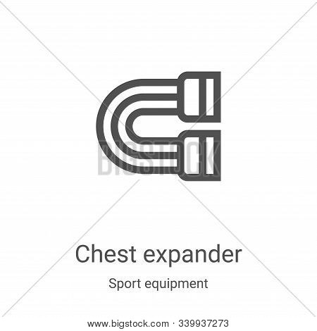 chest expander icon isolated on white background from sport equipment collection. chest expander ico