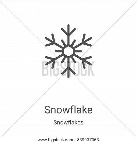 snowflake icon isolated on white background from snowflakes collection. snowflake icon trendy and mo