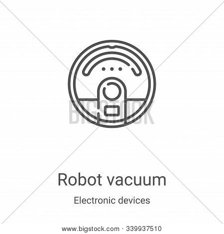 robot vacuum icon isolated on white background from electronic devices collection. robot vacuum icon