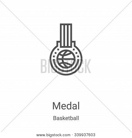medal icon isolated on white background from basketball collection. medal icon trendy and modern med