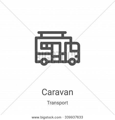 caravan icon isolated on white background from transport collection. caravan icon trendy and modern