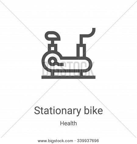 stationary bike icon isolated on white background from health collection. stationary bike icon trend