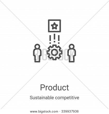product icon isolated on white background from sustainable competitive advantage collection. product