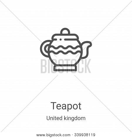 teapot icon isolated on white background from united kingdom collection. teapot icon trendy and mode