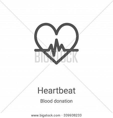 heartbeat icon isolated on white background from blood donation collection. heartbeat icon trendy an